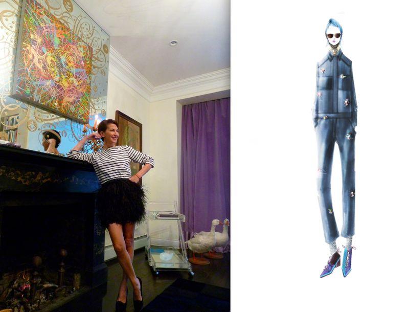Cynthia Rowley fall 2012 sketch and portrait:The Fashion Informer