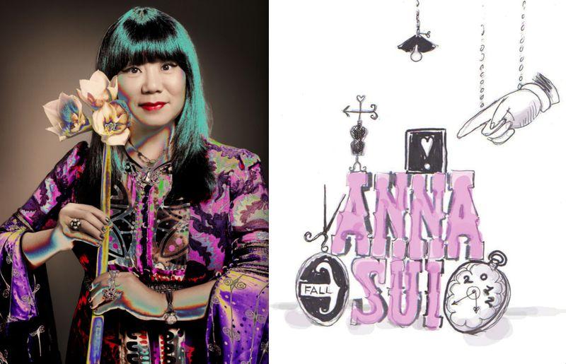 Anna Sui portrait and fall 2012 invite art:The Fashion Informer