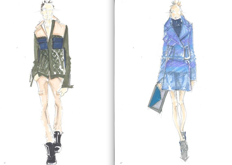 Tommy Hilfiger fall 2012 sketches:The Fashion Informer