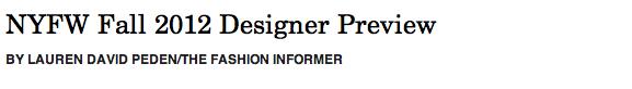 NYFW Designer Preview header