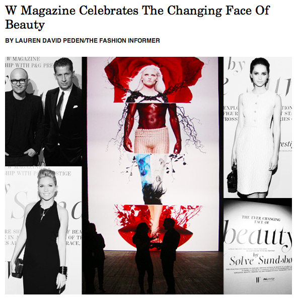 TFI on Rue La La- W mag beauty party