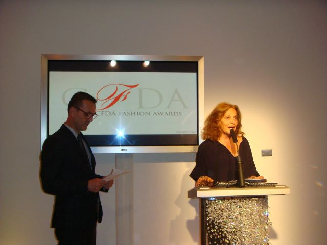 Steven Kolb and DVF at 2012 CFDA Announcement:The Fashion Informer