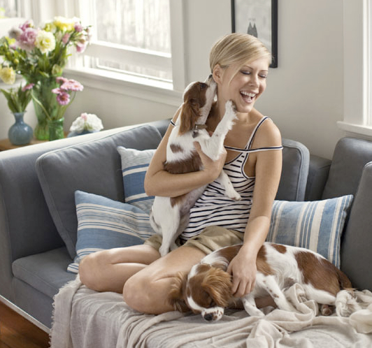 8. Tara Subkoff with her dogs