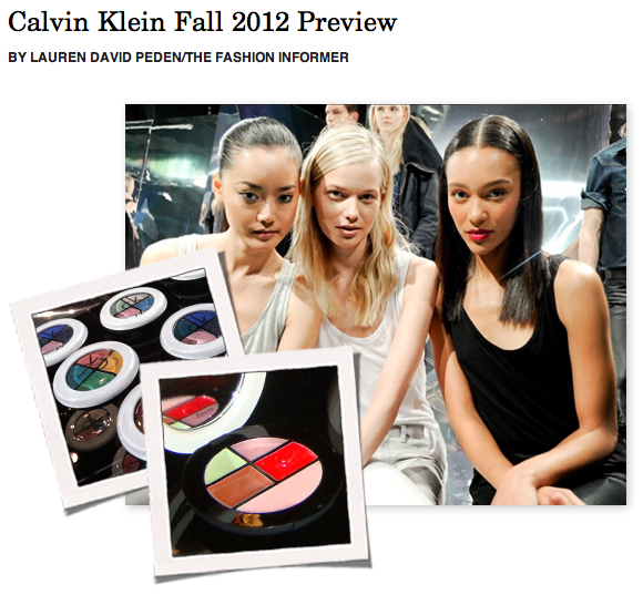 The Fashion Informer on Rue La La-Calvin Klein 2012 preview