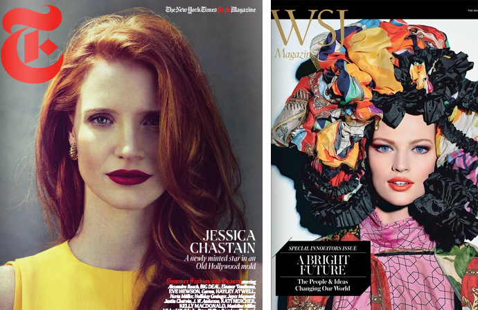 1. Jessica Chastain:Innovators-T vs. WSJ. on The Fashion Informer