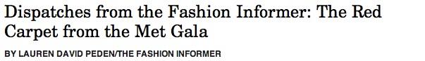 TFI Met Gala style header