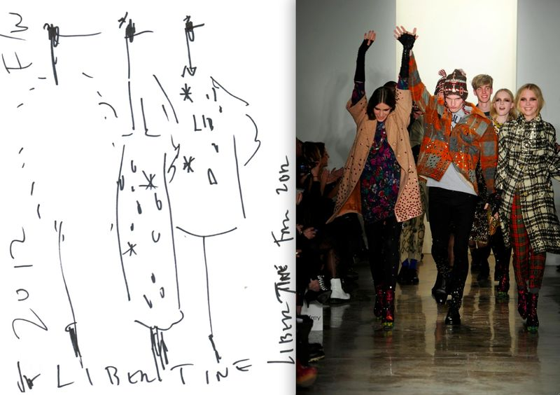 9. Libertine Fall 2012 sketch:runway finale on The Fashion Informer