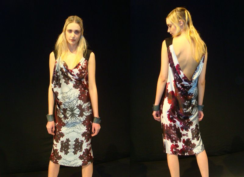 6. Haus Alkire digital print dress fall 2012:The Fashion Informer