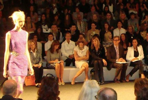4. Anna Wintour at Vera Wang spring 2013 by Lauren David Peden:The Fashion Informer