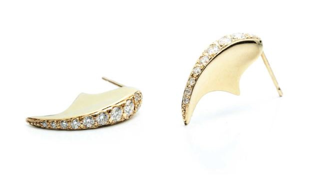 Hirotaka earrings on The Fashion Informer