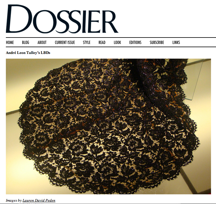 Dossier-ALT LBD piece by Lauren David Peden:The Fashion Informer