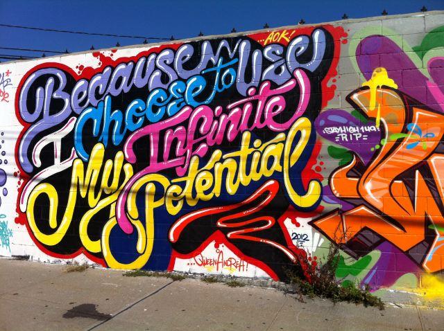 Infinite Potential street art:photo by Lauren David Peden:The Fashion Informer