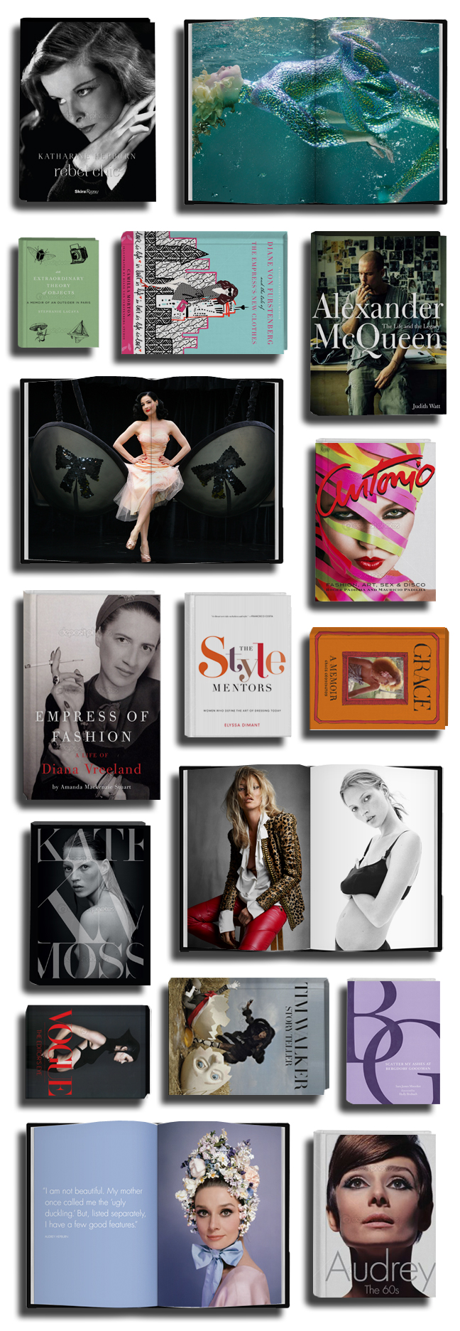 Holiday_books 2012 roundup on The Fashion Informer:graphic by K Sarna