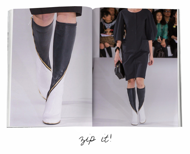 Jill_Sander spring 2013 boots on The Fashion Informer:Informed Obsession:graphic design by K Sarna