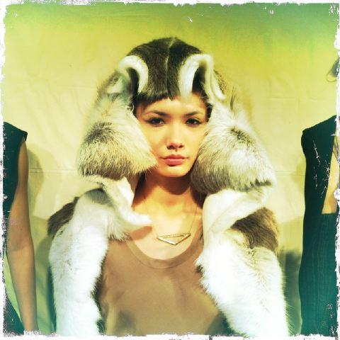 10. Titania Inglis fall 2013 reindeer jacket by The Fashion Informer:Lauren David Peden