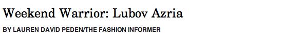 Lubov Azria header