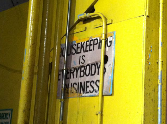 14. Houseeping is Everybody's Business sign at Pier 57:Libertine by Lauren David Peden:The Fashion Informer