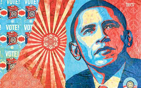Barack Obama Shepard_Faireymural on The Fashion Informer