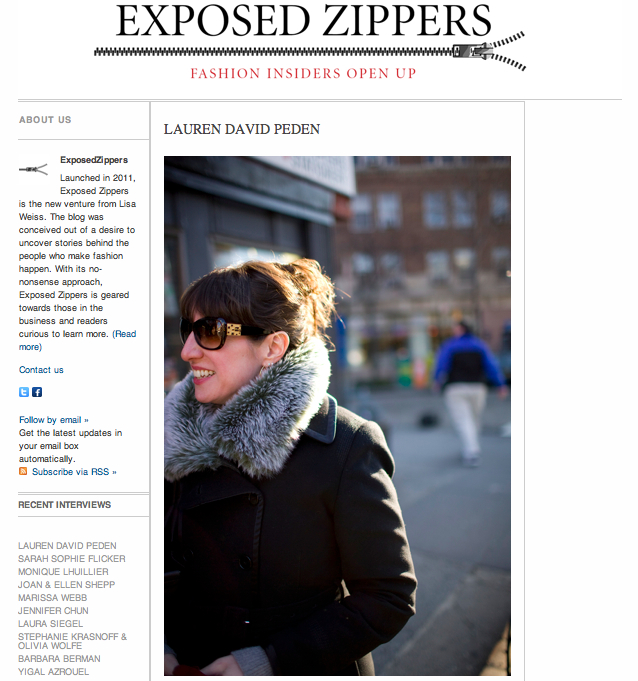 Lauren David Peden:The Fashion Informer on Exposed Zippers-10:12