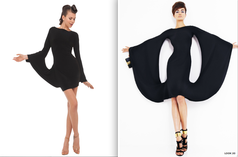 Style Smackdown-Norma Kamali vs. Tom Ford circle dress on The Fashion Informer