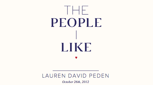 The People I Like, Lauren David Peden-header