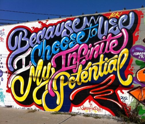 Infinite Potential street art by Queen Andrea:photo by Lauren David Peden:The Fashion Informer