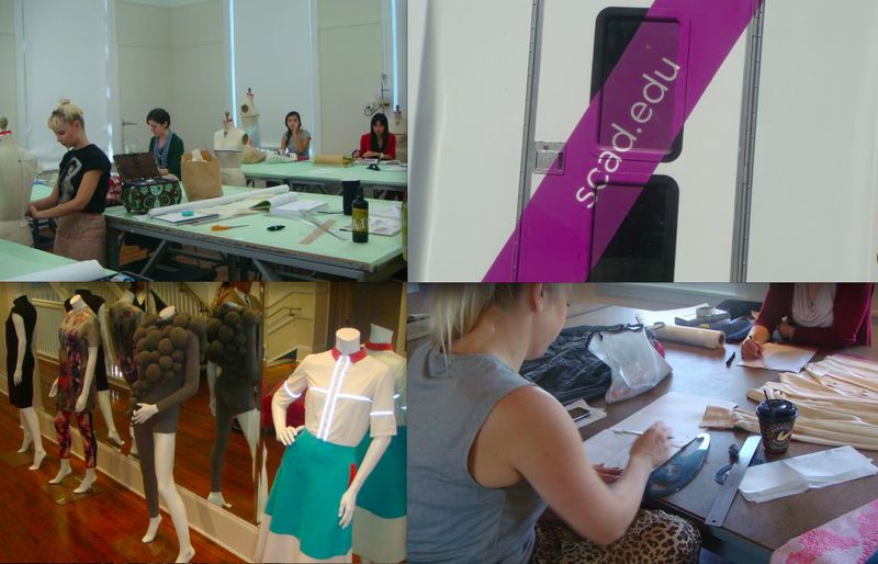 6. SCAD draping:illustrating classes and finished student designs:photo by Lauren David Peden:The Fashion Informer