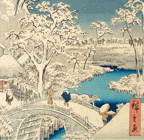 Asian winter scene from Metropolitan Museum of Art on The Fashion Informer