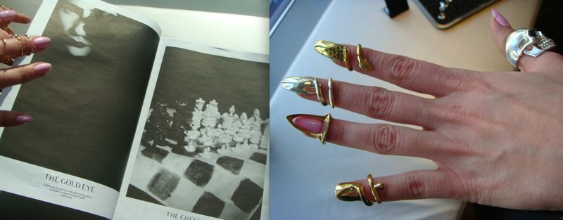 6. Bijules nail rings:paper by The Fashion Informer:Lauren David Peden