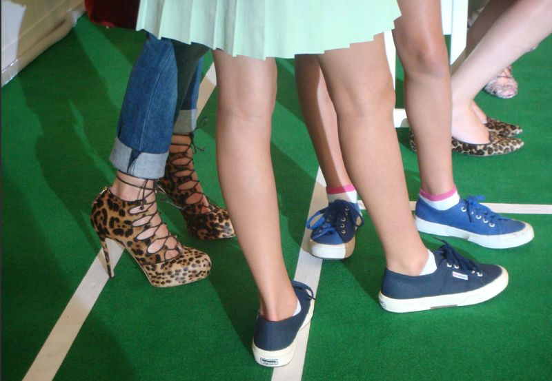 1. Leopard and tennies at Lisa Perry spring 2014 by Lauren David Peden:The Fashion Informer