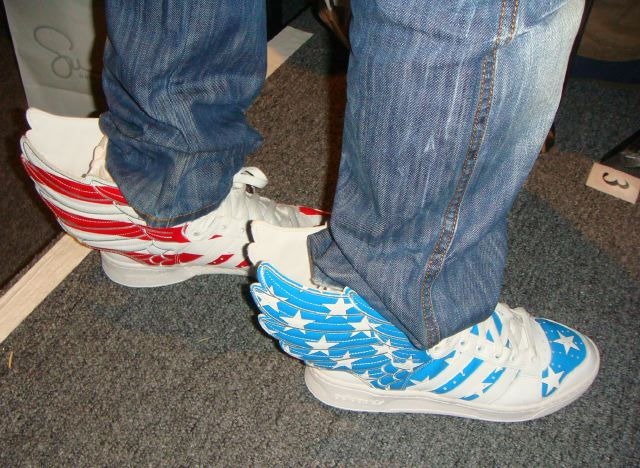 Daily Shoe-Winged Sneakers by Jeremy Scott:photo by Lauren David Peden:The Fashion Informer