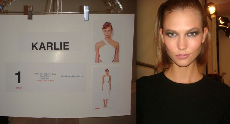 1. Karlie Kloss backstage at Cushnie et Ochs spring 2014 by Lauren David Peden:The Fashion Informer