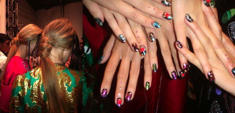 14. Libertine spring 2014 hair and nails by Lauren David Peden:The Fashion Informer
