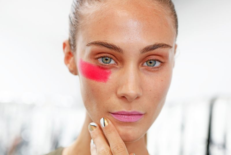 Beauty detail at Assembly spring 2014 on The Fashion Informer