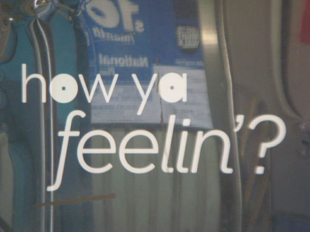 13. subway sign (how ya feeling) by Lauren David Peden:The Fashion informer 2013