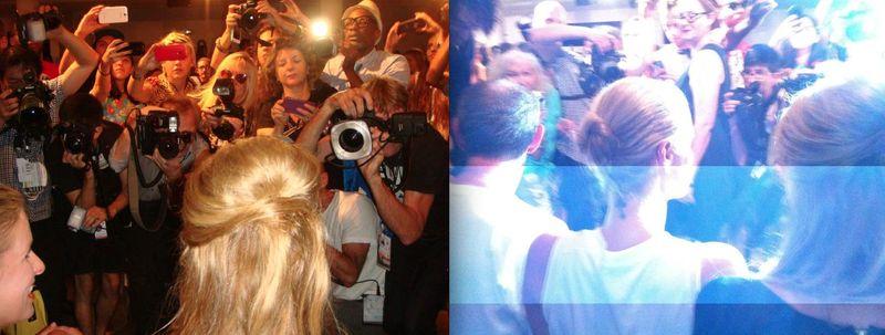 1. Nicky and Paris Hilton paparazzi at Jeremy Scott spring 2014 show by Lauren David Peden:The Fashion informer 2013