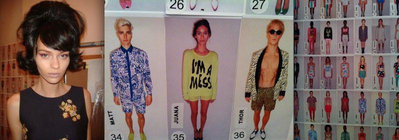 12. Jeremy Scott spring 2014 model and lineup by Lauren David Peden:The Fashion informer 2013
