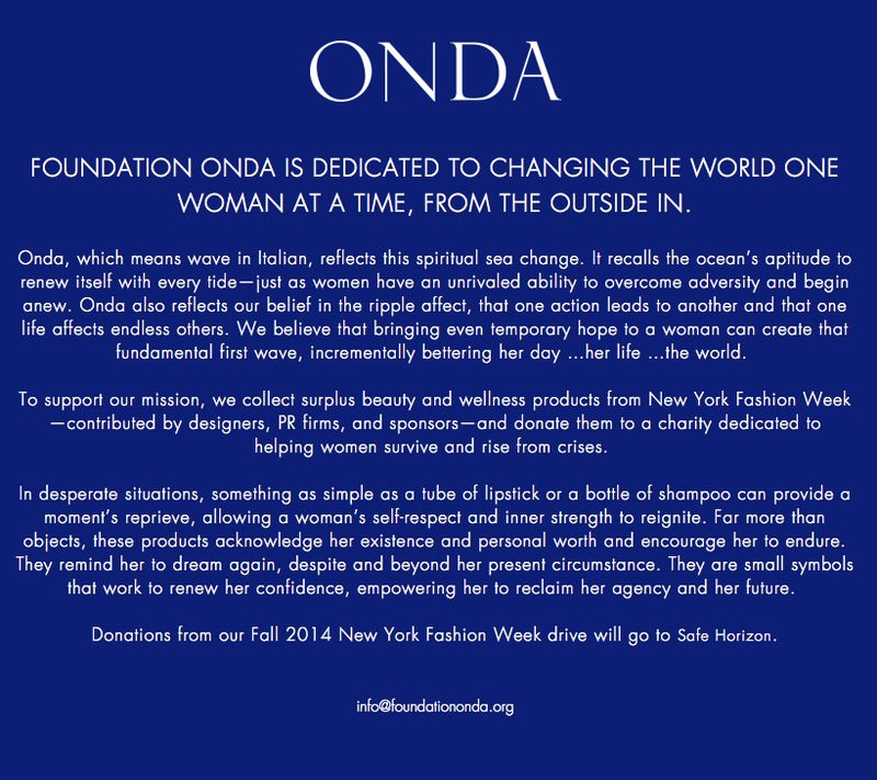 Foundation ONDA on The Fashion Informer