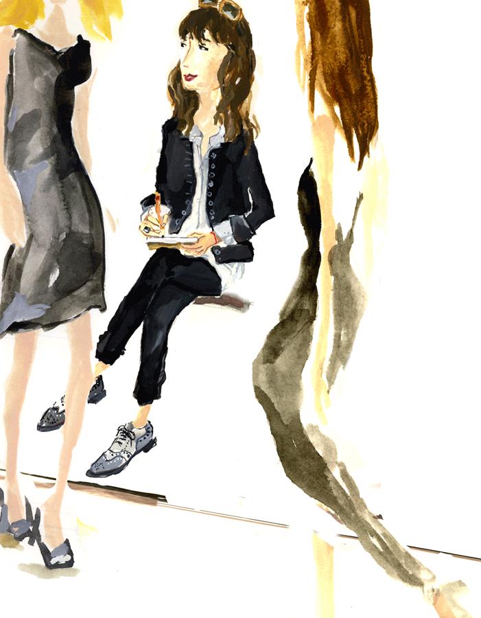The Fashion Informer:Lauren David Peden at work by Lana Frankel
