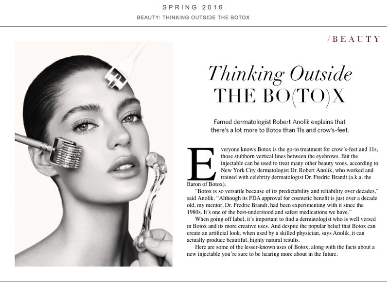 Botox piece on The Editorialist by LDP