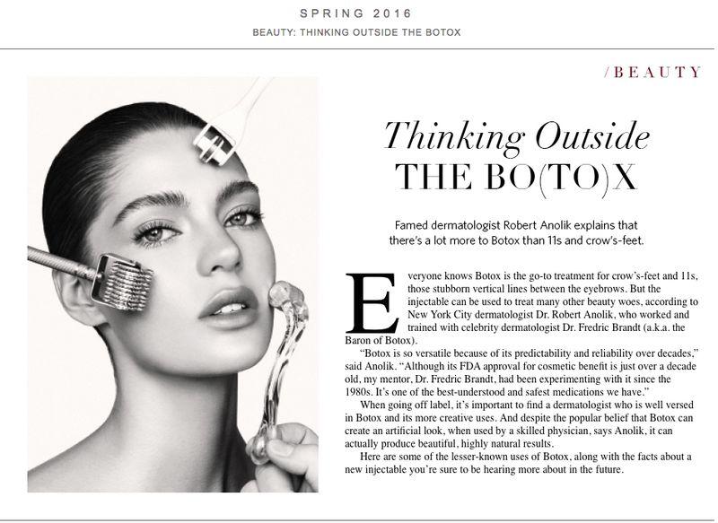 Botox piece on The Editorialist by LDP